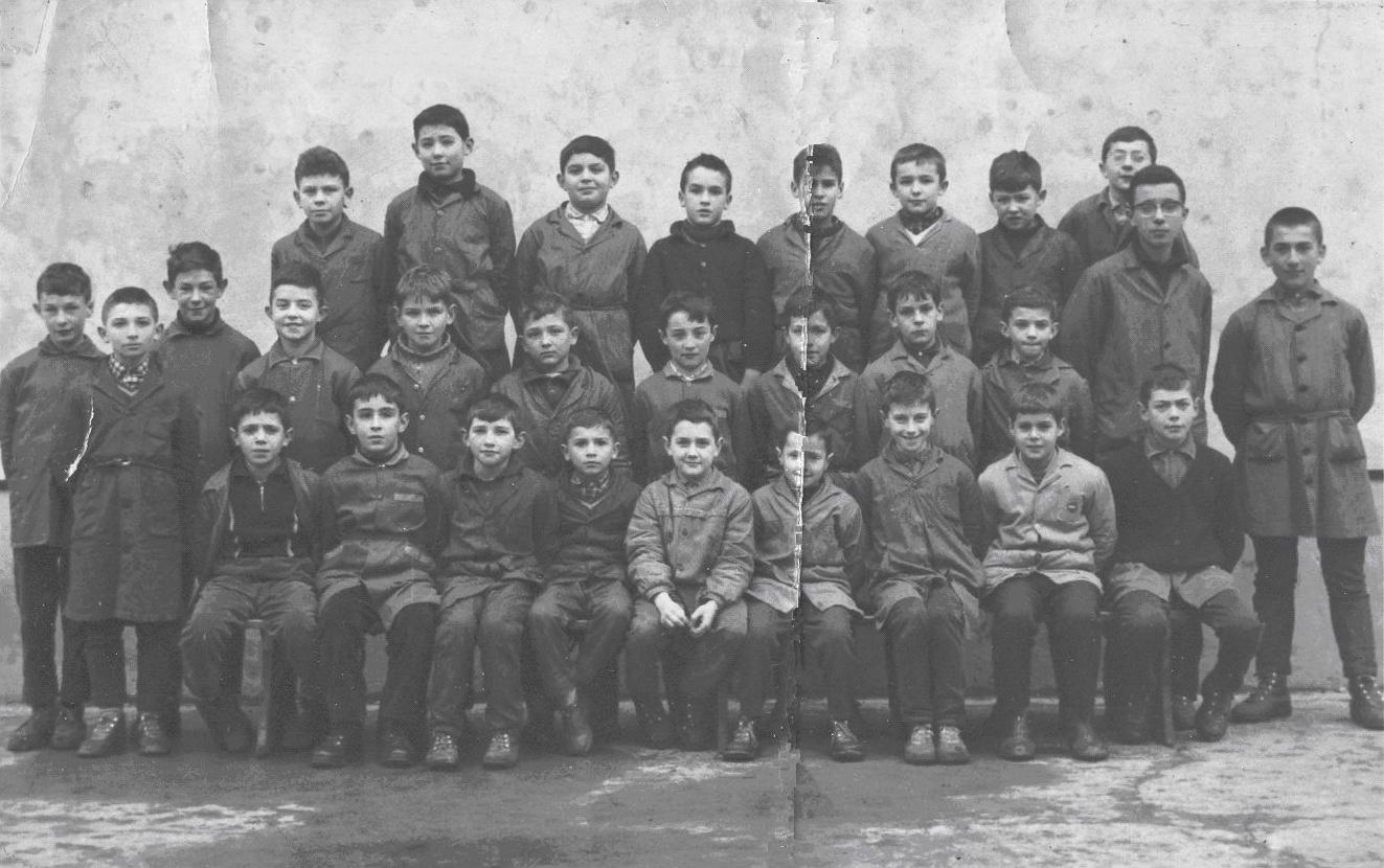 1962-1963 : école de Sauveterre, classe de M. Domenjeu