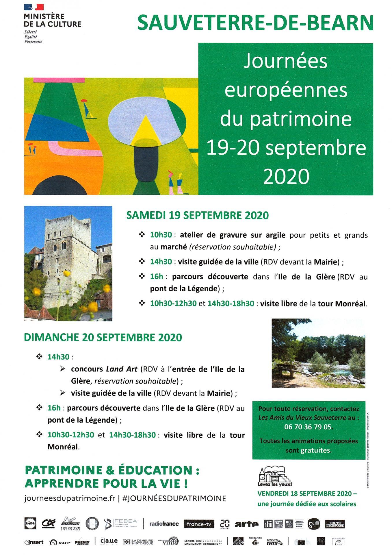 Affiche Journées Europeennes du Patrimoine 2020