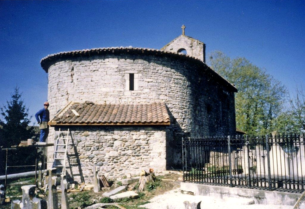 Chapelle Saint-Martin de Sunarthe en cours de restauration