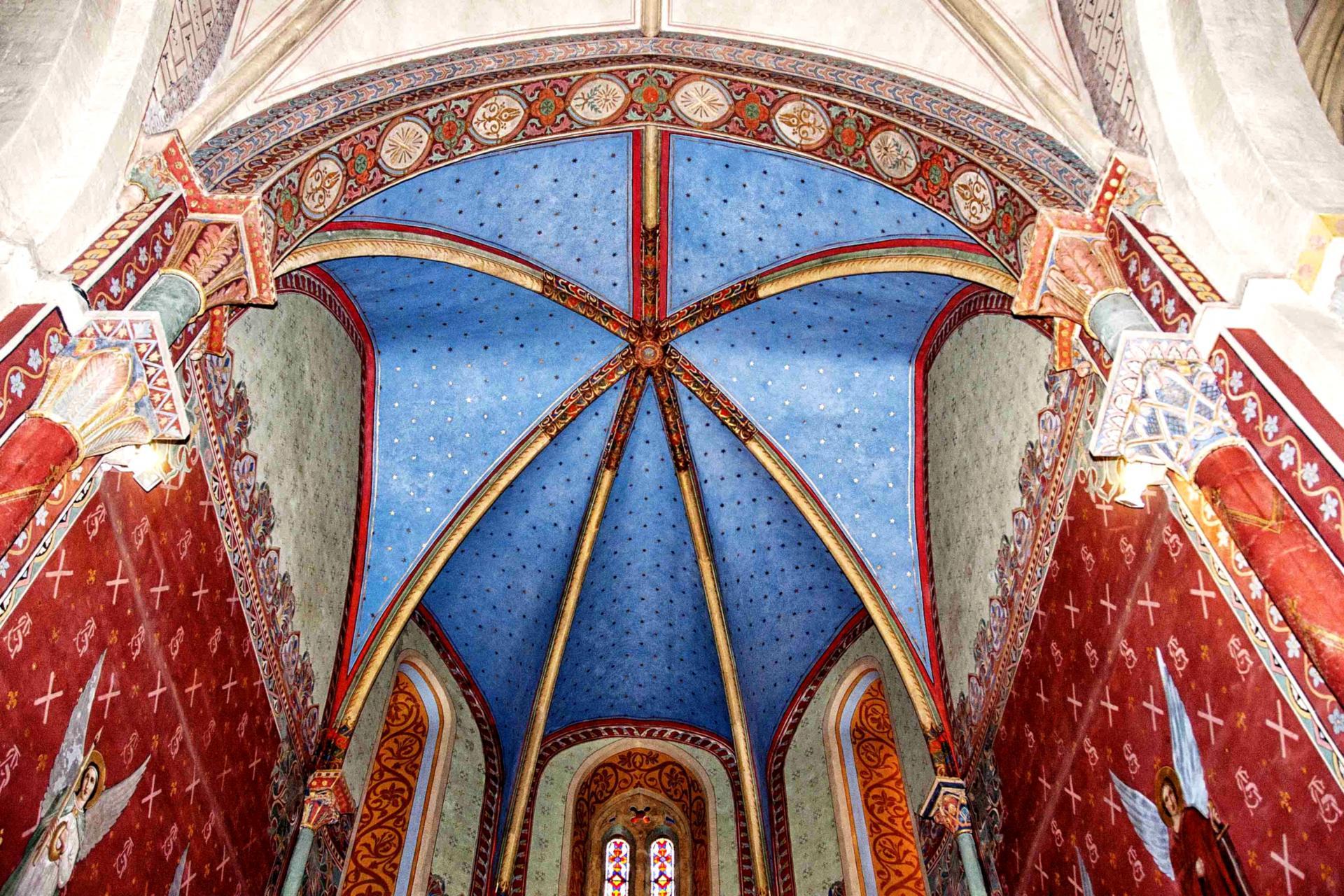 Voûte de l'abside centrale (église Saint-André de Sauveterre)